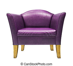 Expensive purple leather armchair