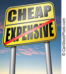 expensive versus cheap compare prices best value low price...