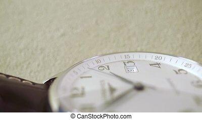 Expensive wrist watch horizontal close up shot - Expensive...