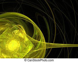 experiência., abstratos, amarela, palette.