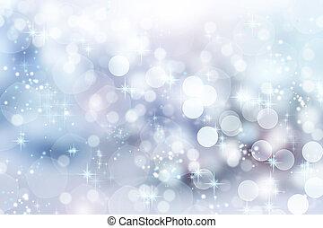 experiência., abstratos, bokeh, natal, inverno