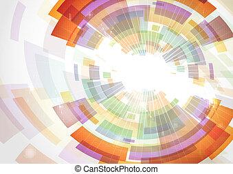 experiência., abstratos, coloridos