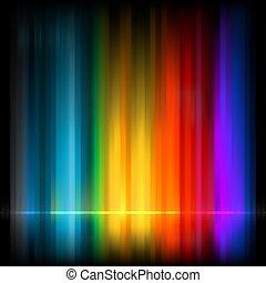experiência., abstratos, eps, coloridos, 8