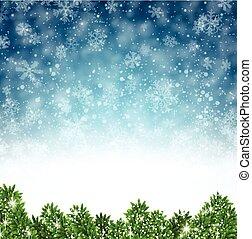 experiência., abstratos, inverno