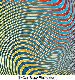 experiência., abstratos, ondas