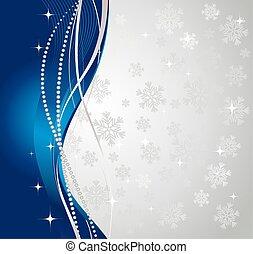 experiência., abstratos, prata, inverno