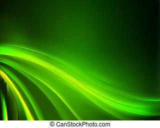 experiência., abstratos, verde, eps, 8