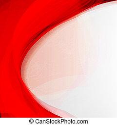 experiência., abstratos, vermelho