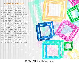 experiência., abstratos, vetorial, coloridos