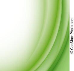 experiência., abstratos, vetorial, verde, ondas