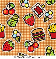 experiência alimento, ícones