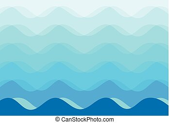 experiência azul, abstratos, vetorial, mar, ondas