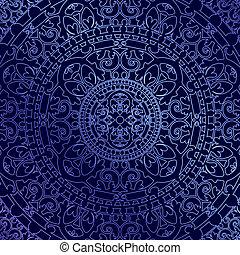 experiência azul, com, ornamento