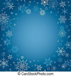 experiência azul, -, natal, vetorial