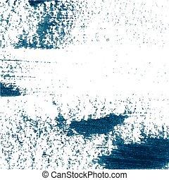 experiência azul, pintado, abstratos, mão, escuro,...