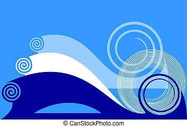 experiência azul, twirls.