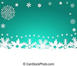 experiência azul, vetorial, snowflakes, natal