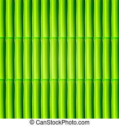 experiência., bambu, vetorial, eps10