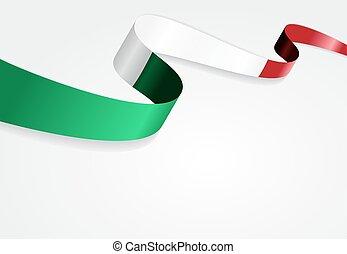 experiência., bandeira, vetorial, illustration., italiano