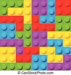 experiência., blocos brinquedo, seamless, padrão