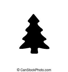 experiência., branca, ícone, árvore, pretas