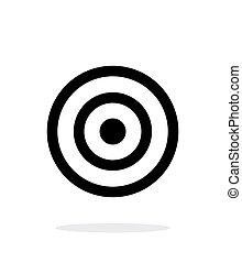 experiência., branca, alvo, ícone