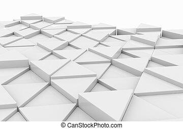 experiência., branca, triangle.