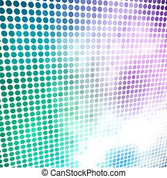 experiência., círculo, vetorial, coloridos, mosaico