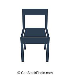 experiência., cadeira, branca, ícone