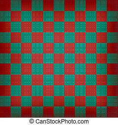 experiência., chessboard, vetorial, grunge