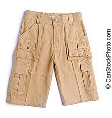 experiência., criança, calças, calças