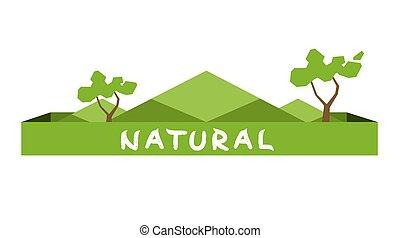 experiência., ecologia, conceito, árvore, polígono