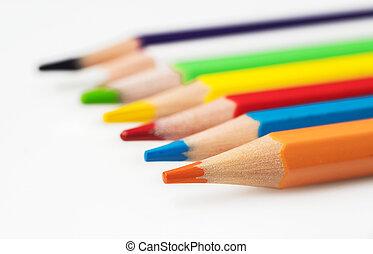 experiência., fim, lápis, cima, cor, branca