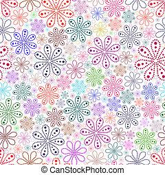 experiência., flor branca, coloridos