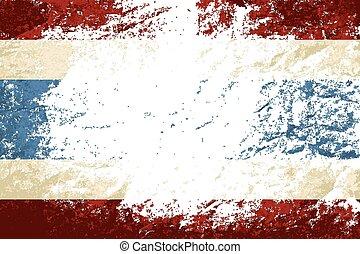 experiência., grunge, bandeira tailândia