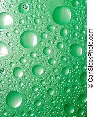 experiência., líquido, copo., abstratos