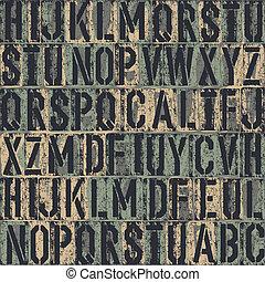 experiência., letterpress, vetorial, seamless, eps8