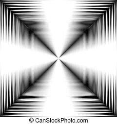 experiência., linhas brancas, corredor, pretas