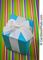 experiência listrada, clássico, giftbox, colorido