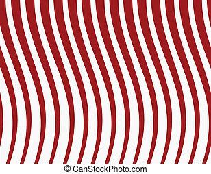 experiência., listrado, vetorial, vermelho, ilustração