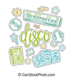 experiência., música, coloridos