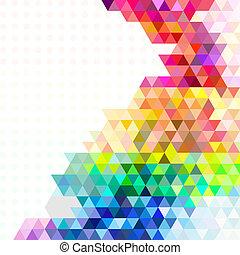 experiência., mosaico, multicolored