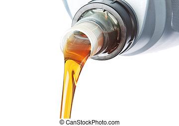 experiência., oil., industrial, despejado, branca