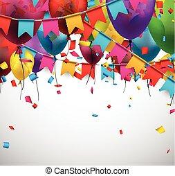 experiência., partido, celebração