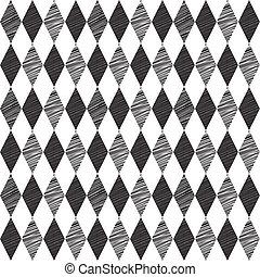 experiência., rhombus, vetorial, illustration., retro