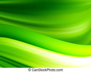 experiência verde, ondas