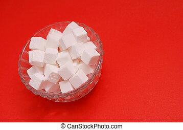 experiência vermelha, açúcar