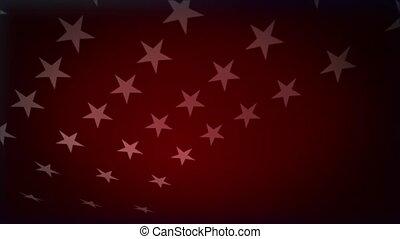 experiência vermelha, com, branca, estrelas