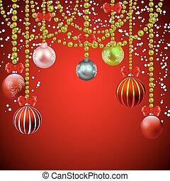experiência vermelha, decorações, natal