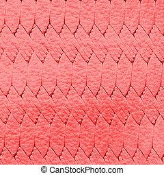experiência vermelha, textura, couro
